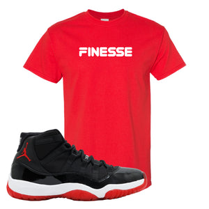 Jordan 11 Bred T Shirt | Red, Finesse