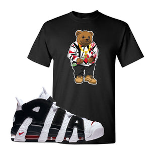 Air More Uptempo White Black Red T Shirt | Black, Sweater Bear