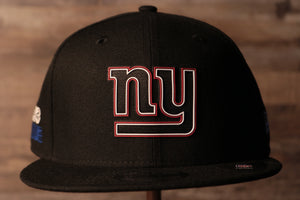 Giants 2020 NFL Draft Snapback Hat | New York Giants 2020 NFL Draft Black Snap Cap the front of this cap has the giants logo in a neon sign like font