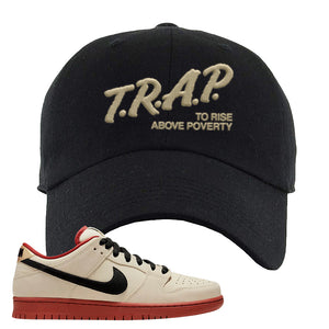 SB Dunk Low Muslin Dad Hat | Trap To Rise Above Poverty, Black