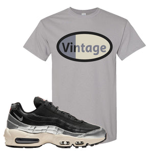 3M x Nike Air Max 95 Silver and Black T Shirt | Vintage Oval, Gravel