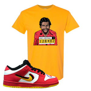 Nike Dunk Low Vietnam 25th Anniversary T-Shirt | Escobar Illustration, Gold