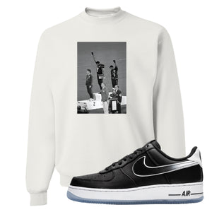Colin Kaepernick X Air Force 1 Low Kaepernick Fist White Sneaker Hook Up Crewneck Sweatshirt