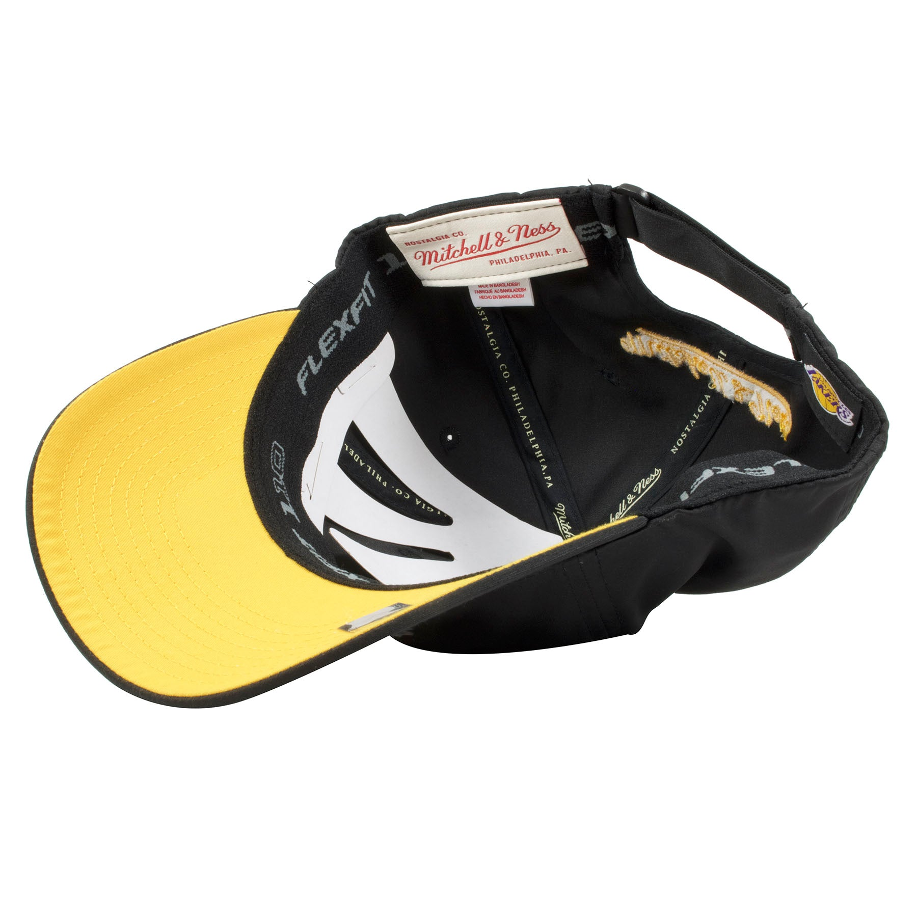 07c326fd2504c ... the under brim of the los angeles lakers dad hat is yellow
