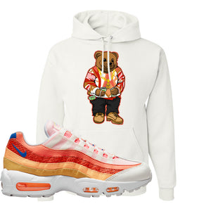 Air Max 95 Orange Snakeskin Hoodie | Sweater Bear, White