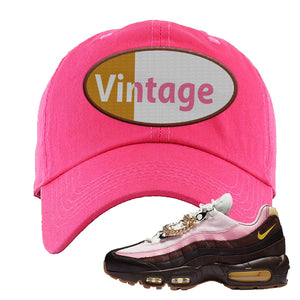 Air Max 95 Cuban Links Dad Hat | Pink, Vintage Oval