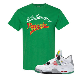 Jordan 4 WMNS Carnival Sneaker Turf Green T Shirt | Tees to match Do The Right Thing 4s | Sal's Famous Pizzeria