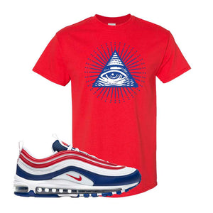 Air Max 97 USA T Shirt | Red, All Seeing Eye