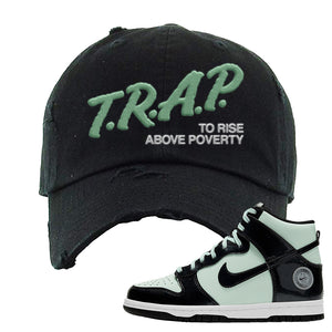 Dunk High All Star 2021 Distressed Dad Hat | Trap To Rise Above Poverty, Black