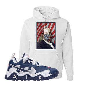 Air Barrage Low USA Hoodie | White, Franklin Mask