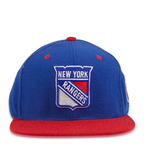 New York Rangers Blue on Red American Needle Snapback Hat