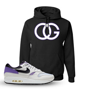 Air Max 1 DNA Series Sneaker Black Pullover Hoodie | Winter Mask to match Nike Air Max 1 DNA Series Shoes | OG