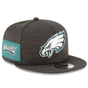 front Eagles snapback hat  | Philadelphia Eagles on field 9fifty black on black snapback cap 2018