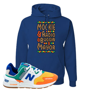 997S Multicolor Sneaker Royal Pullover Hoodie | Hoodie to match New Balance 997S Multicolor Shoes | Mookie and Gang
