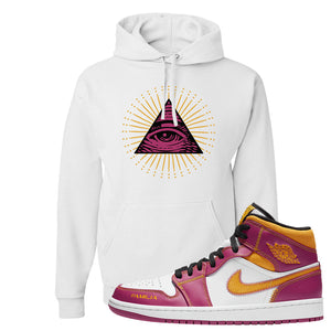 Air Jordan 1 Mid Familia Hoodie | All Seeing Eye, White