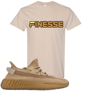 Yeezy Boost 350 V2 Earth Sneaker T-Shirt To Match | Finesse, Sandstone