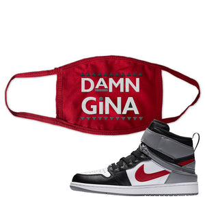 Air Jordan 1 Flyease Face Mask | Red, Damn Gina