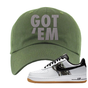 Air Force 1 Low Camo Dad Hat | Got Em, Olive