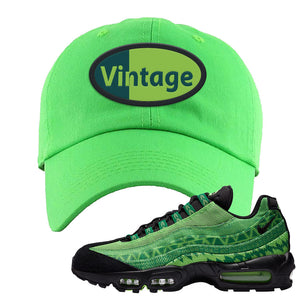 Air Max 95 Naija Dad Hat | Vintage Oval, Neon Green