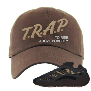 Yeezy 700 v3 Eremial Dad Hat | Trap To Rise Above Poverty, Brown