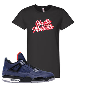 Jordan 4 WNTR Loyal Blue Hustle And Motivate Black Sneaker Hook Up Women's T-Shirt