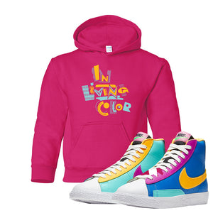 Blazer Mid Big Kids Hoodie | Heliconia, In Living Color