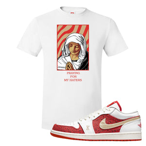 Air Jordan 1 Low Spades T Shirt | God Told Me, White