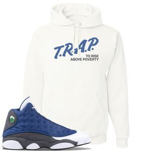 Jordan 13 Flint 2020 Sneaker White Pullover Hoodie | Hoodie to match Nike Air Jordan 13 Flint 2020 Shoes | Trap To Rise