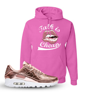 Air Max 90 WMNS 'Medal Pack' Rose Gold Sneaker Pink Pullover Hoodie | Hoodie to match Nike Air Max 90 WMNS 'Medal Pack' Rose Gold Shoes | Talk is Cheap