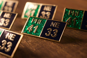 Philadelphia Inspired Super Bowl Score Pin | 41-33 Super Bowl Score Enamel Pin | Philly Pin