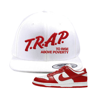SB Dunk Low 'St. John's' Snapback Hat | White, Trap To Rise Above Poverty