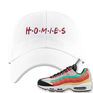 Air Max 95 Black History Month Sneaker White Dad Hat | Hat to match Air Max 95 Black History Month Shoes | Homies