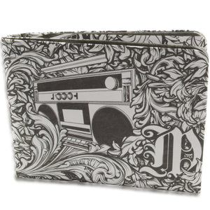 Olivera Black and White Boombox Paper Wallet