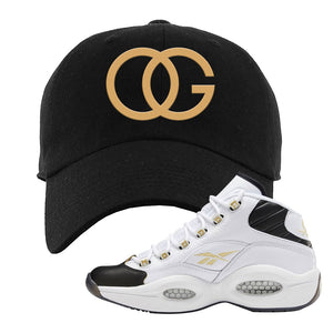 Reebok Question Mid Black Toe Dad Hat | Black, OG