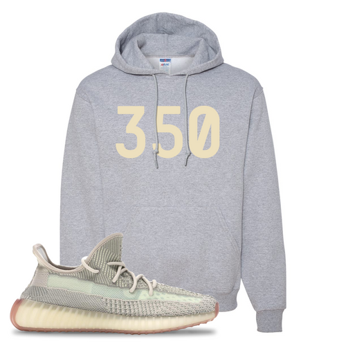 Yeezy Boost 350 V2 Citrin Non-Reflective 350 Athletic Heather Sneaker Matching Pullover Hoodie