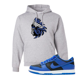 Dunk Low Hyper Cobalt Hoodie | Indian Chief, Ash