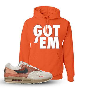 Air Max 1 Amsterdam City Pack Sneaker Retro Heather Coral Pullover Hoodie | Hoodie to match Nike Air Max 1 Amsterdam City Pack Shoes | Got Em