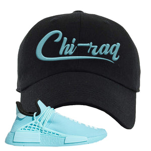 Pharell x NMD Hu Aqua Dad Hat | Chiraq, Black
