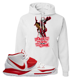Kyrie 6 White University Red Hoodie | Don't Hate The Playa, White