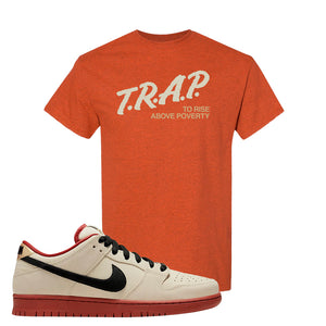 SB Dunk Low Muslin T Shirt | Trap To Rise Above Poverty, Antique Orange