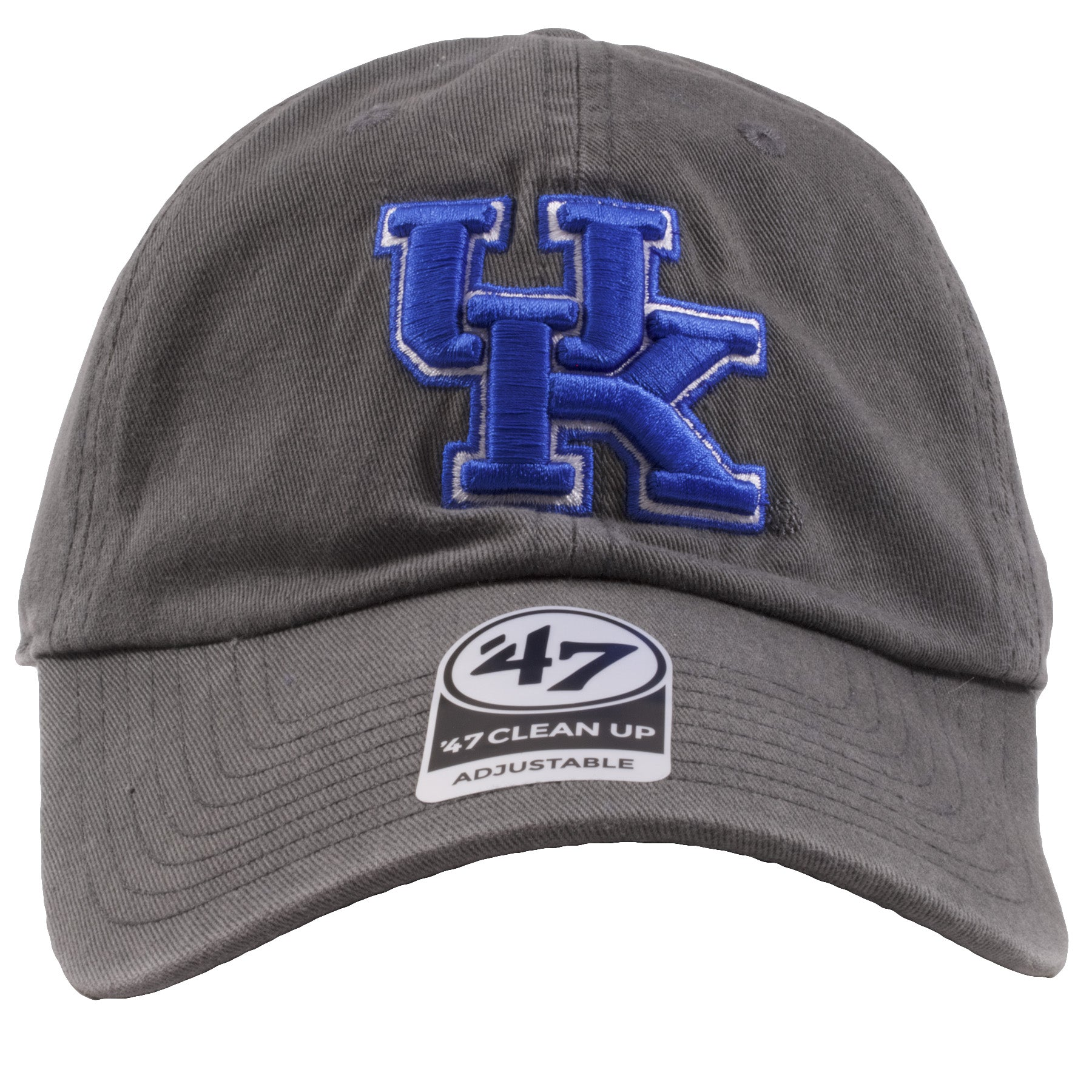 size 40 9c43b 610c7 Embroidered on the front of the university of kentucky charcoal dad hat is  the UK logo