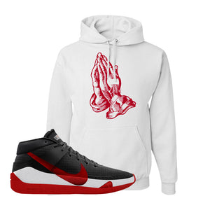 KD 13 Bred Hoodie | Praying Hands, White