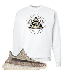 Yeezy 350 v2 Zyon Crewneck | White, All Seeing Eye