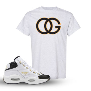 Reebok Question Mid Black Toe T Shirt | Ash, OG