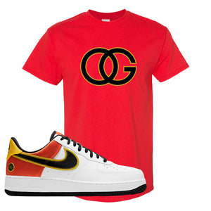 Air Force 1 Low Roswell Rayguns T Shirt | OG, Red