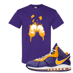 Lebron 8 Lakers T Shirt | Boxing Panda, Purple