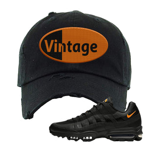 Air Max 95 Ultra Spooky Halloween Distressed Dad Hat | Vintage Oval, Black