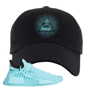 Pharell x NMD Hu Aqua Dad Hat | All Seeing Eye, Black