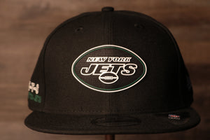 Jets 2020 Draft Snapback Hat | New York Jets Draft 2020 Snap Cap the front of this cap has the jets logo in a neon sign like design Jets 2020 Draft Snapback Hat | New York Jets Draft 2020 Snap Cap