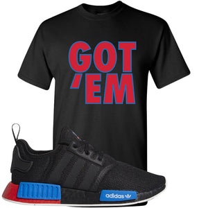 NMD R1 Black Red Boost Matching Tshirt | Sneaker shirt to match NMD R1s | Got Em, Black